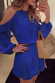 Allovely Chiffon Cold Shoulder Dress