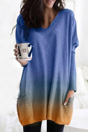 Allovely Gradient  Printed Casual Shirt