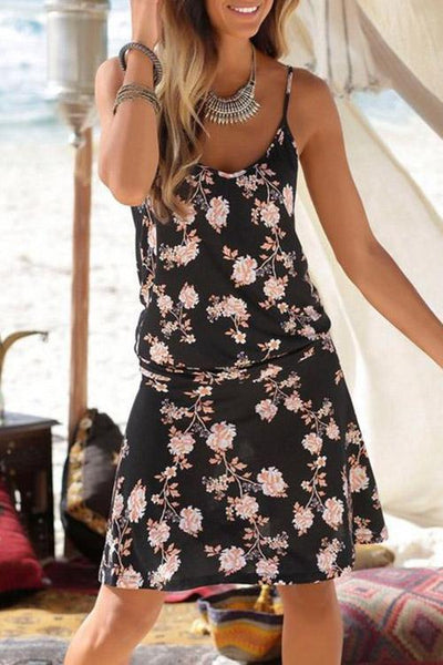 Allovely Printed Camisole Midi Dress