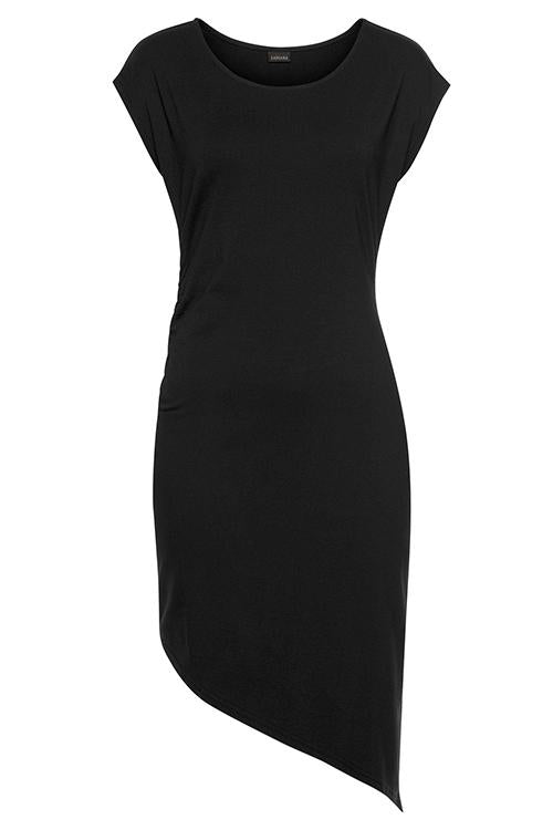 Allovely Black Irregular Beach Dress
