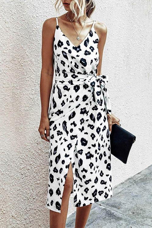 Allovely Side Split Midi Summer Dress