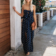 Allovely Pretty Woman Strapless Polka Dot Maxi Dress