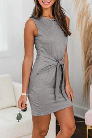 Allovely Waist Band Casual Mini Dress