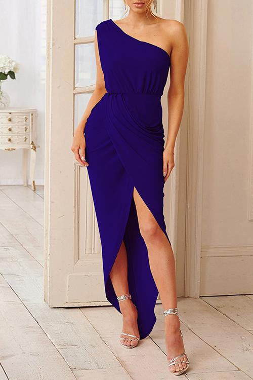 Allovely Irregular High Waist Sleeveless Dress