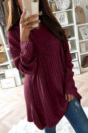 Allovely Hooded Long Sleeve Sweater