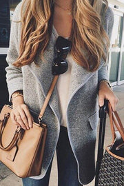 Allovely Lapel Wool Coat