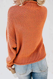 Allovely High Neck Pullover Sweater(6 Colors)