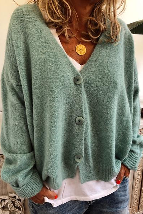 Allovely Winter Knitted Wool Blend Casual Sweater