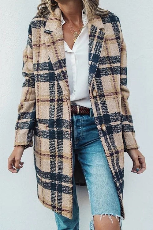 Allovely Straight Single-Breasted Winter Overcoat