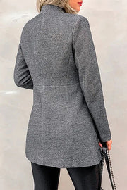 Allovely Stand Collar Slim Fit Woolen Coat