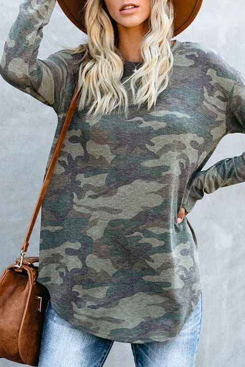 Allovely Camouflage Long Sleeve T-Shirt