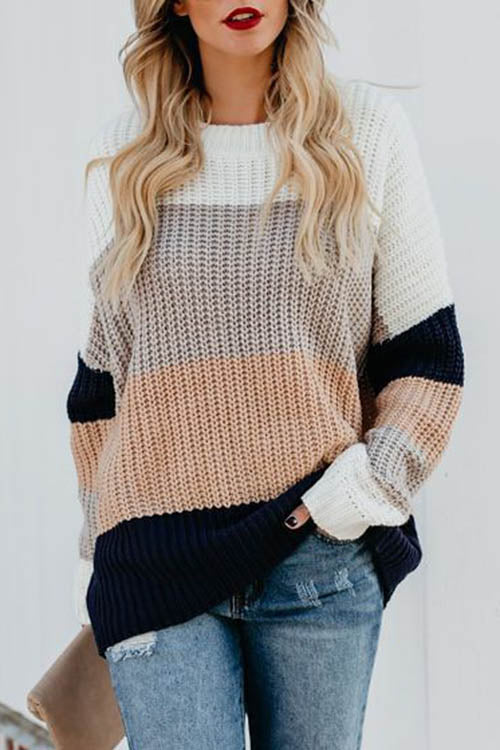 Allovely Gradient Pullover Sweater
