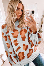 Allovely Leopard Loose Pullover Sweater