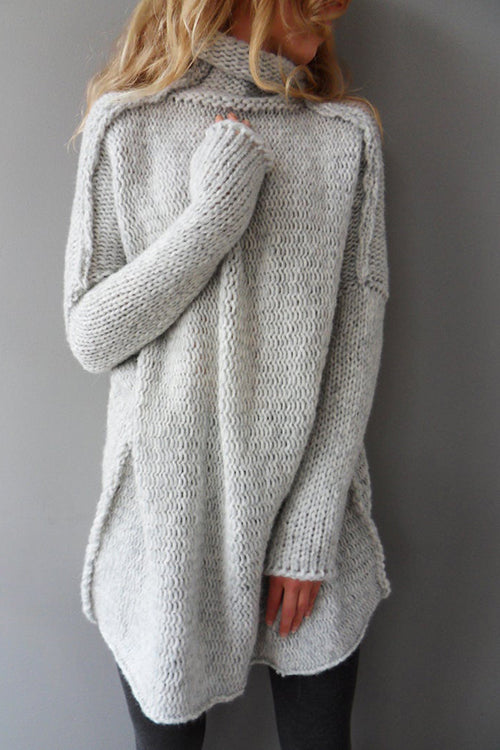Allovely Loose Turtleneck / Thumbholes Sweater