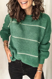 Allovely Christmas Green Casual Sweater