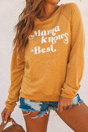 Allovely Mama Knows Best Print Shirt