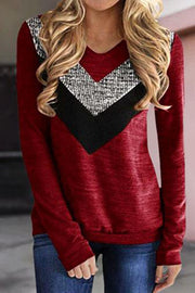 Allovely Sequin Stitching T-Shirt