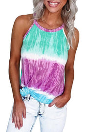 Allovely Tie-Dye Printing Sleeveless Vest