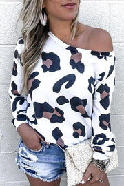 Allovely Leopard Print Long Sleeve T-Shirt