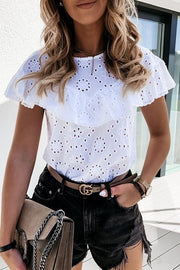 Allovely Lace Ruffled T-Shirt
