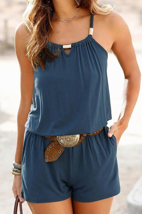 Allovely Chest Hollow Sling Romper