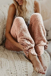 Allovely Soft Teddy Fleece Pajama Pants