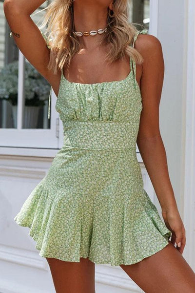 Allovely Printed Sling Romper