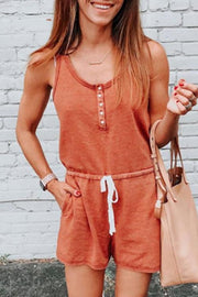 Allovely Fashionable Short Sleeve Casual Tie Romper
