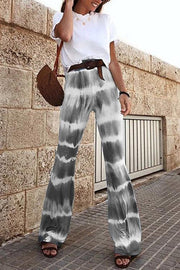 Allovely Tie-Dye Flared Flared Pants