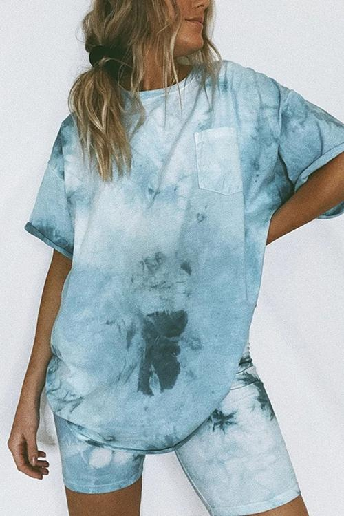 Allovely Tie Dye Two Piece Suit