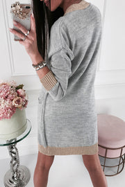Allovely Contrast Long Sleeve Cardigan