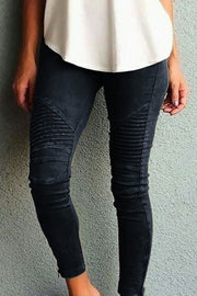 Allovely Cotton Zipper Jegging