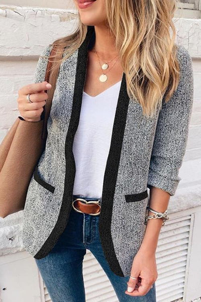Allovely Contrast Suit Jacket