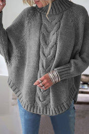 Allovely Turtleneck Loose Bat Sleeve Sweater