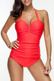 Allovely Sunshine Push Up Ruched Tankini