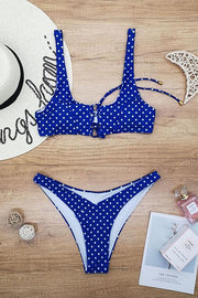 Allovely Dot Bandage Print Bikini