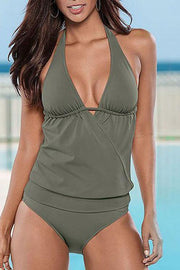 Allovely Halter Bandage Tankini