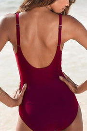 Allovely Falbala Solid One Piece