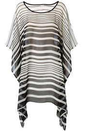 Allovely Chiffon Stripe Cover Up