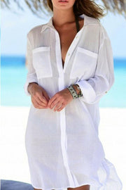 Allovely Pocket Long Sleeve Cover Up