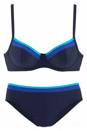 Allovely Color Matching Push Up Bikini