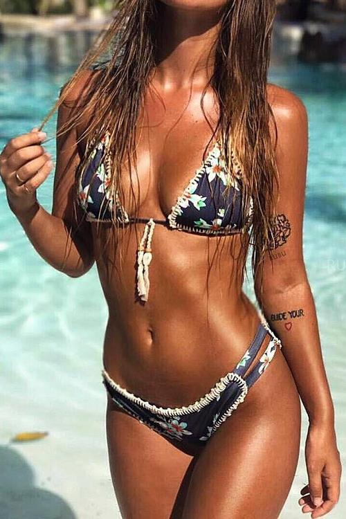 Allovely Printed Braided Bikini