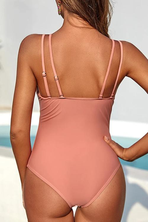 Allovely Adjustable Strap Cute One Piece Swimsuits