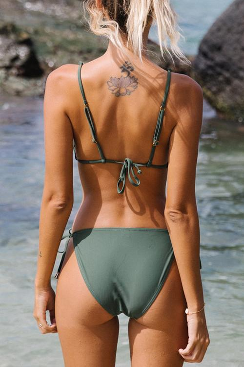 Allovely Sexy Bandage Backless Bikini