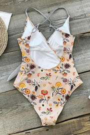Allovely Stay Young Stripe One-Piece Swimsuit