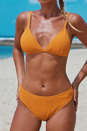 Allovely Triangular Smocked Bikini