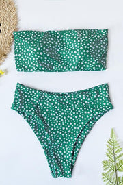 Allovely Small Floral Strapless Bikini