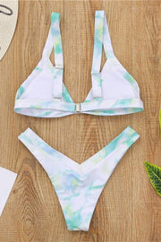 Allovely Tie-Dye High Waist Sexy Bikini
