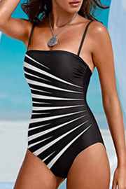 Allovely Contrast Striped One Piece