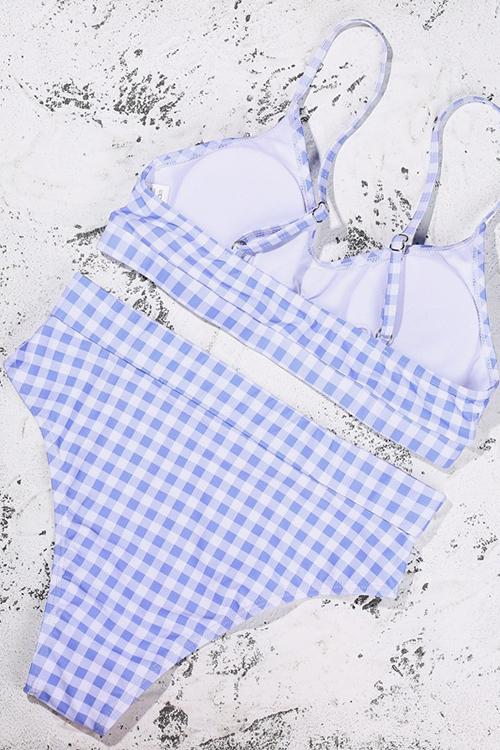 Allovely Checked High Waist Bikini